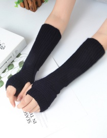 Fashion Upper Cyan Half Finger Wool Arm Sleeve
