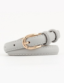 Fashion Gray Alloy Buckle Pin Buckle Belt