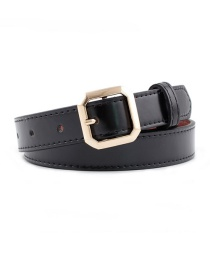Fashion Black Square Buckle Belt