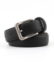 Fashion Black Alloy Buckle Stone Belt