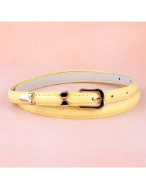 Fashion Yellow Alloy Buckle Belt