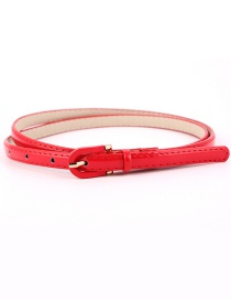 Fashion Red Pin Buckle Imitation Leather Belt