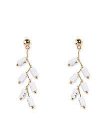 Fashion Gold Synthetic Stone Earrings