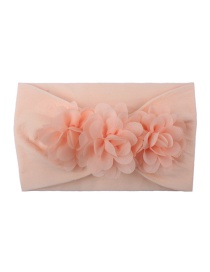 Fashion Meat Meal Chiffon Flower Nylon Baby Hair Band