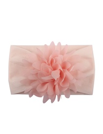 Fashion Pink Nylon Chiffon Flower Baby Hair Band