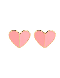 Fashion Pink Drop Oil Love Heart-shaped Earrings
