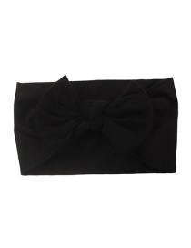 Fashion Black Nylon Bow Children's Hair Band