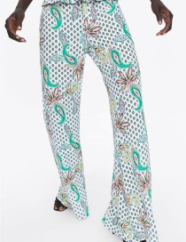 Fashion Color Printed Trousers