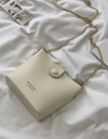 Fashion White Chain Crossbody Shoulder Bag