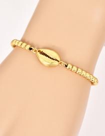 Fashion Gold Copper Beaded Shell Bracelet