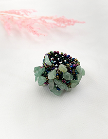 Fashion Color Rice Bead Resin Elastic Ring