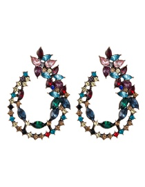 Fashion Color Hollow Drop-shaped Acrylic Diamond Earrings