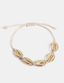 Fashion Gold Adjustable Metal Marine Bracelet