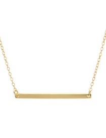 Fashion Gold Stainless Steel Word Pendant Short Necklace