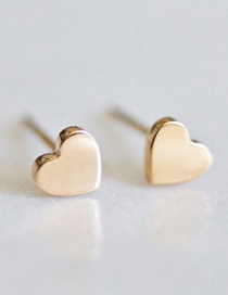 Fashion Gold Love Stainless Steel Earrings