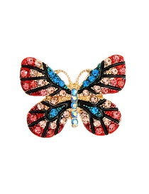 Fashion Color Butterfly-studded Brooch