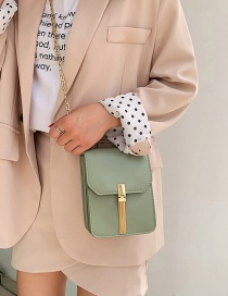 Fashion Matcha Green Chain Tassel One Shoulder Messenger Bag