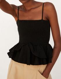 Fashion Black Sling Polka Dot Top