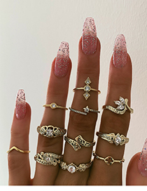 Fashion Gold Alloy Ring Combination