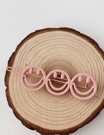 Fashion Smiley - Pink Frosted Geometric Hair Clip