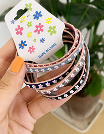 Fashion Color 6 Packs Flower Hair Rope 6 Pieces
