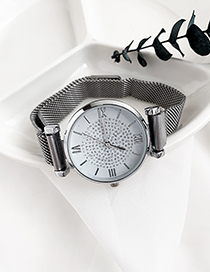 Fashion Silver Alloy Electronic Watch