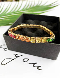 Fashion Color Alloy Diamond Bracelet