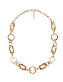 Fashion Khaki Acrylic Splicing Alloy Necklace