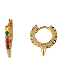 Fashion Ear Ring Gold Zircon Eye Earrings