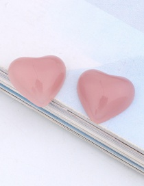 Fashion Pink (one Sold) Love Resin Imitation Natural Stone Earrings