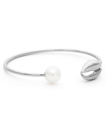 Fashion White K Round Shell Pearl Bracelet