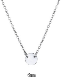 Fashion Steel Color Geometric Smooth Stainless Steel Necklace