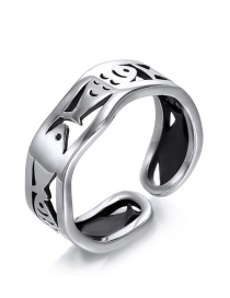 Fashion Silver 925 Silver Fish Open Ring