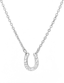 Fashion Steel Color U-shaped Steel Necklace