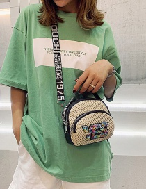 Fashion Yes White Cross-stitched Embroidered Letter Sequin Shoulder Bag