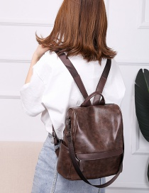 Fashion Brown Pu Leather Backpack