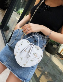 Fashion White Crossbody Chain Lace Embroidered Shoulder Tote