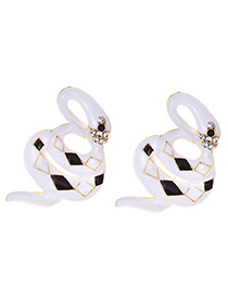 Fashion Snake Alloy Dripping Animal Earrings