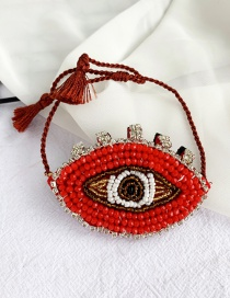 Fashion Red Sequins Mizhu Felt Cloth Glasses Bracelet