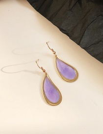 Fashion Purple Geometric Transparent Earrings