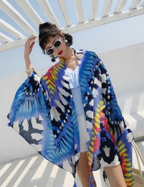 Fashion Colorful Geometry Cotton And Linen Printed Scarves