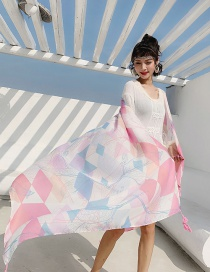 Fashion 57th Color Cotton And Linen Printed Scarves