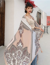 Fashion Main Color Cotton And Linen Printed Scarves
