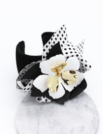 Fashion Black Bow Flower Bracelet