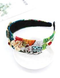 Fashion Color Full Diamond Geometric Heart Bee Headband
