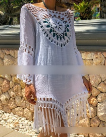 Fashion White Fringe Blouse