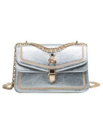 Fashion Silver Pu Alloy Insect Lock Shoulder Bag Large