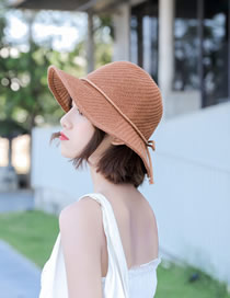 Fashion Camel Folding Straw Hat