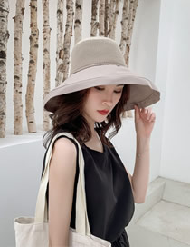 Fashion Beige Foldable Big Hat Sun Hat