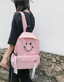 Fashion Pink Cartoon Smiling Backpack